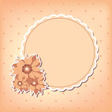 Vector greeting card with flower Stock Photo