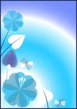 Vector greeting card with flowers Stock Images