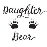 Vector Greeting Card For Gift Tag Decor. Daughter Bear stock illustration