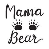 Vector Greeting Card For Gift Tag Decor. Mama Bear royalty free illustration