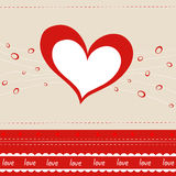 Vector greeting card with heart Stock Photos