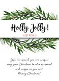 Vector greeting card, invite with Pine tree greenery branches, E. Ucalyptus Green leaf Wreath & black berry border, frame. Merry cute watercolor illustration Royalty Free Stock Photography