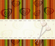 Vector greeting card with pearl hearts Royalty Free Stock Photos