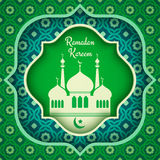 Vector greeting card for Ramadan. Royalty Free Stock Photography
