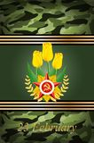 Vector greeting card , related to Victory Day or 2 Royalty Free Stock Photo