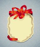 Vector greeting card with ribbon Stock Photography