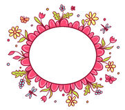 Vector greeting card with spring flowers Royalty Free Stock Photography