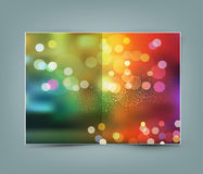 Vector greeting card template Royalty Free Stock Images