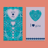 Vector greeting card to valentine`s day Royalty Free Stock Image