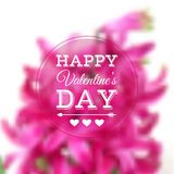 Vector greeting card for Valentine's Day Stock Photo