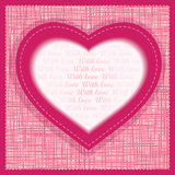 Vector greeting card Valentines Day Royalty Free Stock Image