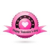 Greeting card for Valentines day. Stock Photography