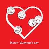 Vector greeting card for valentines day Royalty Free Stock Images