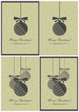 Vector greeting cards. Christmas and New Year.  royalty free illustration