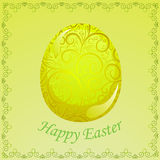 Greeting easter card Stock Photos