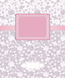 Vector  greeting  frame. Template frame design for greeting card Royalty Free Stock Photo