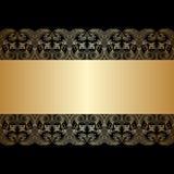 Vector greeting or invitation card. Vector vintage lace floral pattern for greeting or invitation card Royalty Free Stock Photo