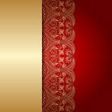 Vector greeting or invitation card. Vector vintage lace floral pattern for greeting or invitation card Royalty Free Stock Photos