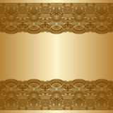 Vector greeting or invitation card. Vector greeting or invitation card with vintage lace floral pattern and place for text Royalty Free Stock Photo