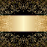 Vector greeting or invitation card. Vector greeting or invitation card with vintage lace floral pattern and place for text Royalty Free Stock Images