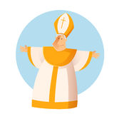 Vector Greeting Pope Stock Photography