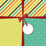 Vector greeting retro background Stock Images