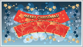 Vector greetings Template Merry Christmas Royalty Free Stock Photo