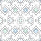 Vector grey blue tribal geometric seamless pattern stock illustration