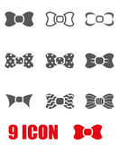 Vector grey bow ties icon set Royalty Free Stock Images