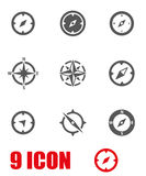 Vector grey compass icon set Stock Photo