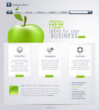 Vector Grey-green Website With Apple Royalty Free Stock Photos