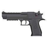 Vector grey handgun. On a white background vector illustration