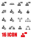 Vector grey office people icon set Stock Photos