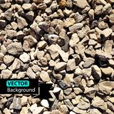 Vector grey pebbles background. Stock Photography