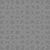 Vector Grey Puzzles Pieces Square GigSaw - 100. Royalty Free Stock Images