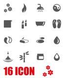 Vector grey spa icon set Royalty Free Stock Photo