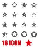 Vector grey stars icon set Royalty Free Stock Photo