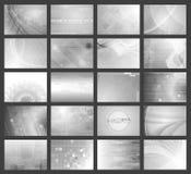 Vector grey tech backdrops collection Stock Photos