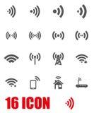 Vector grey wireless icon set Stock Photo