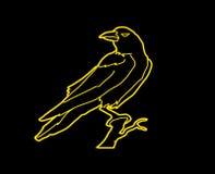 Vector gráfico derecho del cuervo Imagenes de archivo