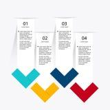 Vector gráficos coloridos da informação para suas apresentações do negócio Imagem de Stock Royalty Free