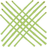 Vector grid of bamboo rods Royalty Free Stock Photos