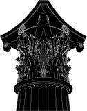 Vector griego 03 de la columna del Corinthian Imagen de archivo