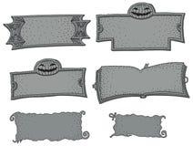 Vector grijs steenkader - Halloween-partij Royalty-vrije Stock Afbeeldingen