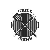 Vector grill menu icon. Isolated on white background. Royalty Free Stock Images