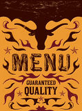 Vector grill - steak - restaurant menu design. Western vintage style - eps available Stock Photos