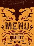Vector grill - steak - restaurant menu design Stock Photos
