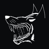 Vector. The Grin of Werewolf. The Grin of Werewolf Isolated On Black vector illustration