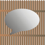 Vector in the grip  laths and place for text Royalty Free Stock Image