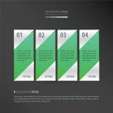 Vector groen bannerneon Stock Fotografie